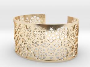 Bracelet Fatehpur Sikri India - Silver L (187mm) in 14k Gold Plated Brass