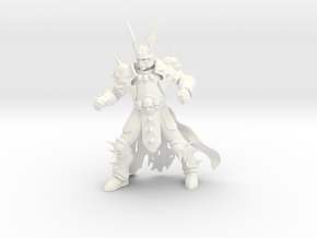 WhiteSkull large in White Strong & Flexible Polished