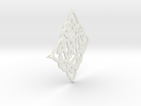 Celtic Pendent 3b in White Natural Versatile Plastic