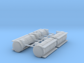 1/50th Australian Road Train Fuel Tank set in Smooth Fine Detail Plastic