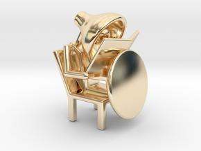 Lala - Reading book - DeskToys in 14k Gold Plated Brass