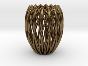 Basket Candlestick 4.5cm in Polished Bronze