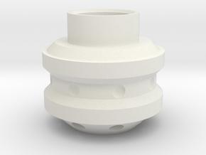 Dalek Gun-stick (tip of barrel, #dg001) in White Natural Versatile Plastic