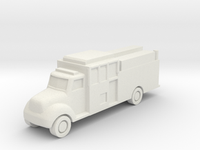 1:285 Custom Fire - Full Response Cab Pumper in White Natural Versatile Plastic: 6mm