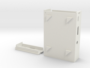 Raspberry Pi 2 / Raspberry Pi B+  Cluster Case Rev in White Natural Versatile Plastic