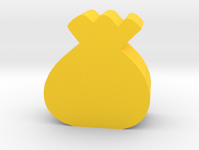 Game Piece, Sack Token in Yellow Processed Versatile Plastic