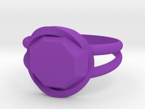 Size 6 Diamond Ring in Purple Processed Versatile Plastic