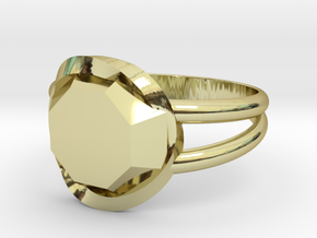 Size 7 Diamond Ring in 18k Gold Plated Brass