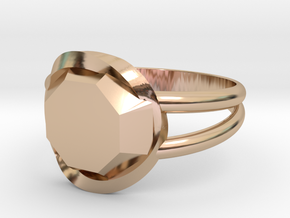 Size 9 Diamond Ring in 14k Rose Gold