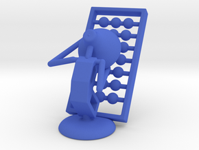 Lala - Playing abacus - DeskToys in Blue Strong & Flexible Polished