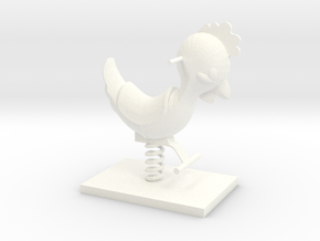 Playground chicken in White Processed Versatile Plastic
