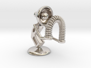 """Lala - Playing with """"Spring coil toy"""" - DeskToys in Rhodium Plated Brass"""