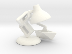 "JuJu - ""Playing with paper boat"" - DeskToys in White Processed Versatile Plastic"