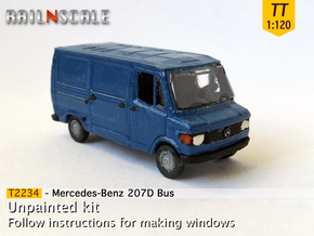Mercedes-Benz 207D Bus (TT 1:120) in Smooth Fine Detail Plastic