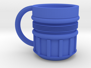 Rocket Mug in Blue Processed Versatile Plastic