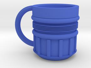 Rocket Mug in Blue Processed Versatile Plastic