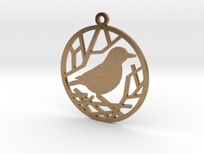 Christmas tree ornament - Bird in Natural Brass