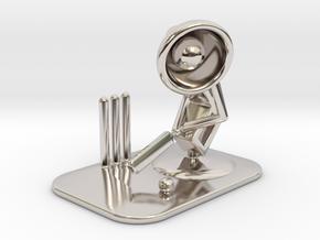 "Lala ""Playing Cricket"" - DeskToys in Platinum"