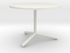 "1:24 36"" Cafe Table in White Natural Versatile Plastic"