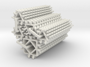 Drilled Truncated Dodecahedron Kit - part 1 of 2 ( in White Strong & Flexible