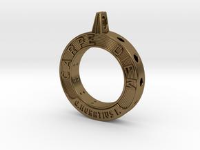 Carpe Diem in Polished Bronze