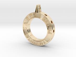 Carpe Diem in 14k Gold Plated Brass