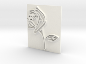 Rose2a in White Strong & Flexible Polished