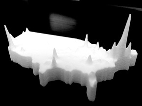 US Population Density Map in White Natural Versatile Plastic