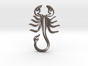Scorpion1b in Polished Bronzed Silver Steel