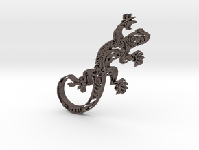 Gecko1b in Polished Bronzed Silver Steel