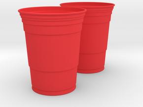 Mini Red Solo Cups in Red Processed Versatile Plastic