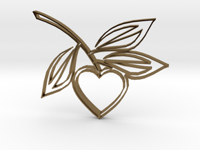 Heart1b in Polished Bronze