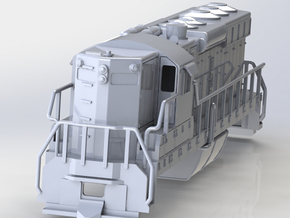 EMD SD24 Locomotive OO Scale 1:76 in White Natural Versatile Plastic