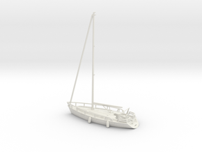 Sailboat 01.N Scale (1:160) in White Natural Versatile Plastic