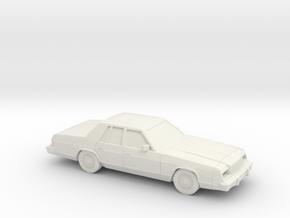 1/87 1979-81 Dodge St Regis in White Natural Versatile Plastic