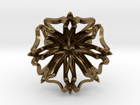 Ring The Lily  / size 9 1/2 US ( 19,4 mm) in Natural Bronze