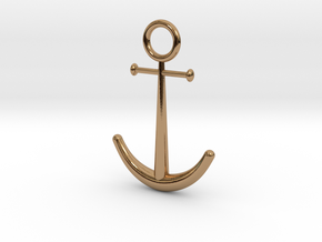 Anchor Pendant in Polished Brass