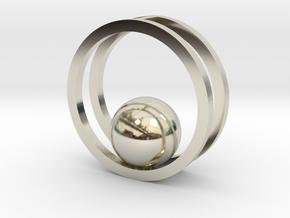Minimalist Necklace - Yoga Pendant in 14k White Gold