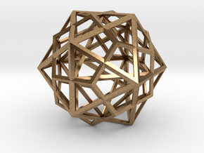 Icosahedron, Dodecahedron, Octahedron in Natural Brass