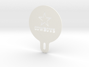 Cowboys Cappuccino / Latte / Coffee Stencil in White Processed Versatile Plastic