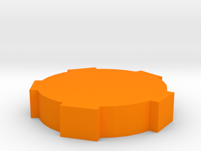 Game Piece, Round Walls in Orange Strong & Flexible Polished