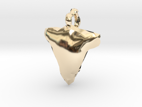 Arrow Head Low Poly in 14k Gold Plated Brass