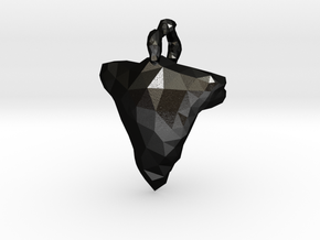 Arrow Head Low Poly in Matte Black Steel