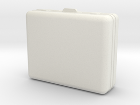 1:24 Luggage Suitcase in White Natural Versatile Plastic