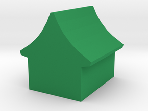 Game Piece, Chinese House in Green Processed Versatile Plastic