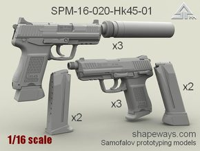 1/16 SPM-16-020-Hk45-01 Heckler & Koch 45C in Smoothest Fine Detail Plastic