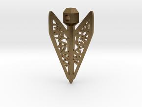 Bagani Artifact Pendant in Natural Bronze