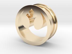 Star Wars Rebel Alliance 21mm Ear Ring Gauge in 14K Yellow Gold