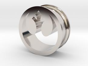 Star Wars Rebel Alliance 21mm Ear Ring Gauge in Rhodium Plated Brass