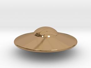 Alien Spaceship Custom Monopoly Piece in Polished Brass